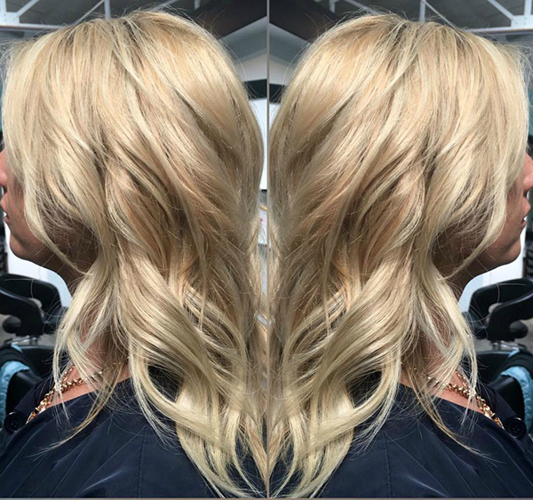 blonde color and styling