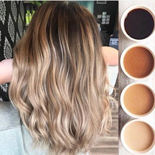 Balayage technique result