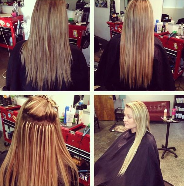 Hair Extensions Before And After Studio 39 Salon Studio 39 Salon