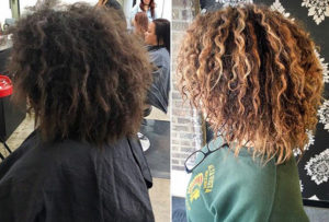 Color and highlights on natural hair