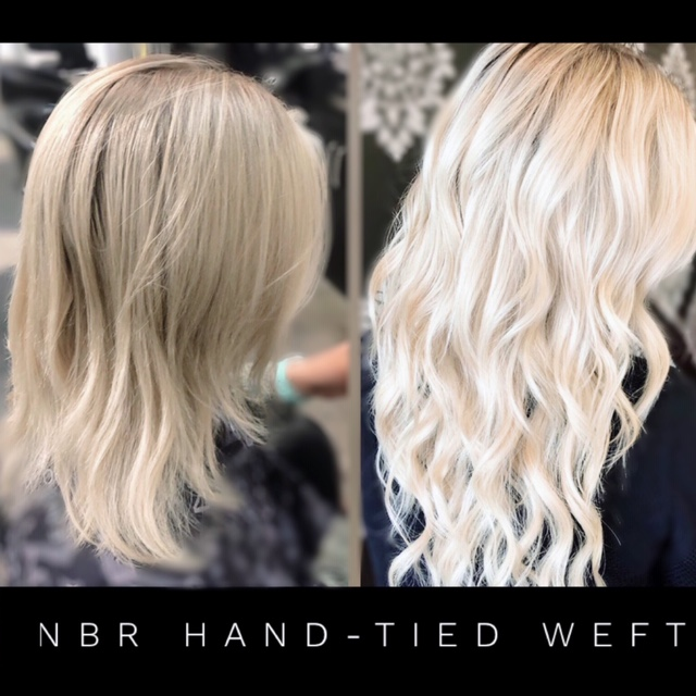 nbr hair extension before and after