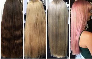 brown to pink hair