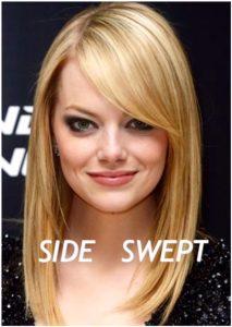 side swept bangs