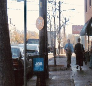 The corner of Bell and 39th facing east, 2001.