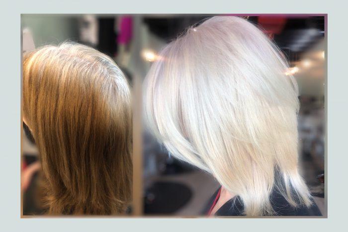 white hair transition